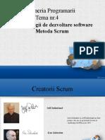 Ingineria Software Metodologii de Dezvoltare Software Metoda Scrum