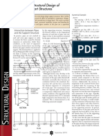 Dicussion on structural design of steel pipe support structures