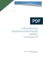 A INFLUÊNCIA DO DESPORTO NA MOTIVAÇÃO LABORAL (Por Nelson Silva)