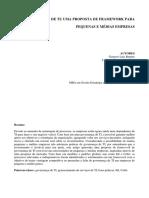 Governança de TI Uma Proposta de Framework Para Pequenas e Médias Empresas