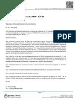Decreto sobre desclasifican documentación sobre Nisman