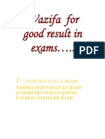 Wazifa for Good Result in Exams