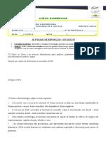 Atividade de Reposição II (FCM) - Turma Noite (Biomedicina)