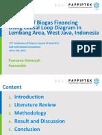 Biogas Financing using Causal Loop Diagram