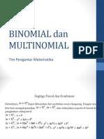 Binomial Dan Multinomial