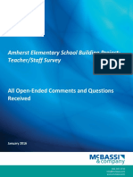 Amherst School Staff Survey Comments