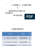 Science Form 1 - Chapter 1.1 By Kelvin