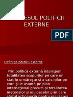 PROCESUL POLITICII EXTERNE