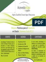 AcevedoApps Sesión Informativa - Mejores Prácticas Para El Desarrollo en Oracle E-Business Suite R12.2