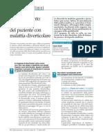 Inquadramento e gestione del paziente con malattia diverticolare