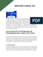 Programación Lineal en Tora
