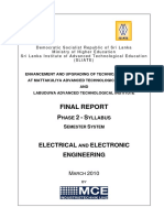 All Sylabuss of HNDE(Electrical & Electronic Engineering )