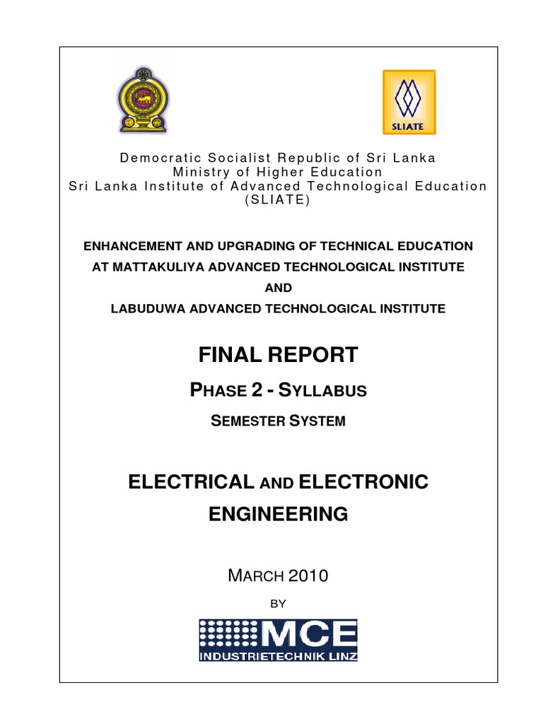 all sylabuss of hnde electrical electronic engineering