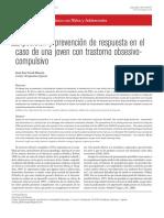Exposición y prevención de respuesta en el caso de una joven con trastorno obsesivocompulsivoCaso Clinico TOC