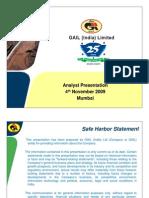 GAIL Investor Presentation Nov09