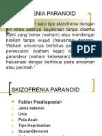 Skizofrenia Paranoid n Paranoid ( Kuliah 4 )