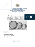 Tp Analyse Granulometrique Par Tamisage