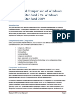 Architectural Comparison of Windows Embedded Standard 7 vs Windows Embedded Standard 2009