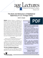 The Role and Relevance of Multilateral Diplomacy in U.S. Foreign Policy