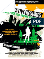 Look inside Alternative Resumes!