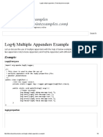 Log4j Multiple Appenders _ Tutorialspoint Examples