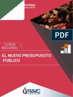 Curso Nacional El Nuevo Presupuesto Público