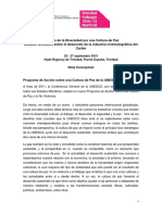 Culture of Peace TTFF Concept Note Agenda ESP