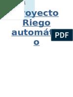 Proyecto Riego automático