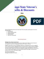 Vet State Benefits & Discounts - MS 2016