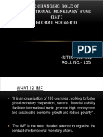 changing role of imf in global economy