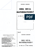 Barbarin,Georges - GB18 - Dieu Est Il Mathematicien
