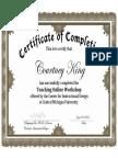 CMU Teaching Online Certificate