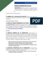 Literatura Chilena Contemporanea 2015