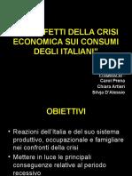 crisi Economica e Consumi