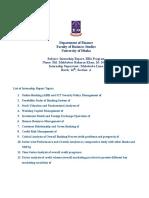 Internship Report Topics