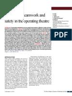 Attitudes to Teamwork & Safety