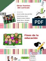 Otras Fuentes Del Currículo - Teoría Curricular