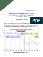 Resultados del índice nacional de precios al consumidor (INPC) al tercer trimestre de 2015