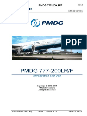 PMDG 777 Introduction | Simulation | Airplane