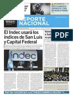 Reporte Nacional Telam 15 de enero 2016