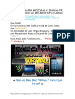 Como Crear Una Red WiFi Virtual en Windows 7-8
