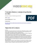 Conceptos Básicos y Consejos de Grabación en Vídeo