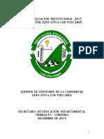 Autoevaluacion Institucional i e Los Volcanes 2015