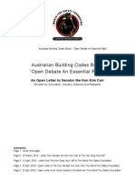 Australian Building Codes Board (ABCB) Open Letter 3