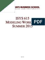 Database Intro Modeling Workbook (Summer 2015)
