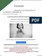 O Desenvolvimento Da Resiliência Durante a Infância (BVA)