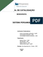 Manual Catalogação Pergamum