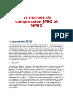 Les Normes de Compression Jpeg Et Mpeg