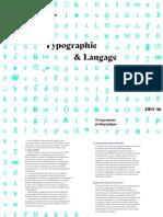 typographie et langage