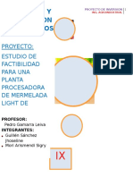 Planta de Procesamiento de Mermelada de Ciruela Light